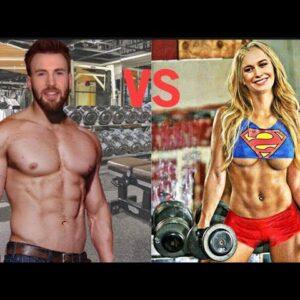 Brie Larson vs Chris Evans Training for [Captain marvel & Captain America] who is better