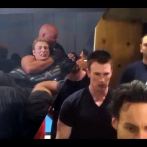 Chris Evans Training/Rehearsal for Elevator Fight Scene (Captain America: The Winter Soldier)