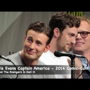 Chris Evans Captain America compares muscles to Thor at Comic-Con 2014 Marvel Panel