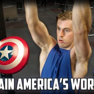 CAPTAIN AMERICA'S WORKOUT PLAN!!! Full workout w/ Chris Evans quotes  - NO EXCUSES, NO LIMITS!!!