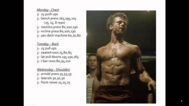 Brad Pitt Abs- How To Get Abs Like Brad Pitt From Fight Club