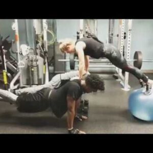 Emily Bett & Stephen Amell Workout routine +  Arrow comrades