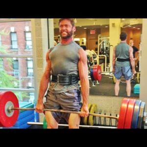 Hugh Jackman workout - deadlift training 2014