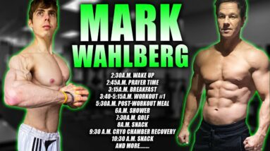 I LIVED LIKE MARK WAHLBERG FOR 24 HOURS | 4am Workout 5000 Calorie Diet