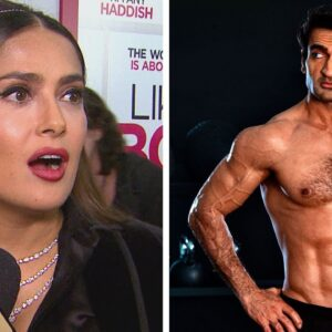 Watch Salma Hayek's HILARIOUS Reaction to 'Eternals' Co-Star Kumail Nanjiani's Body Transformation