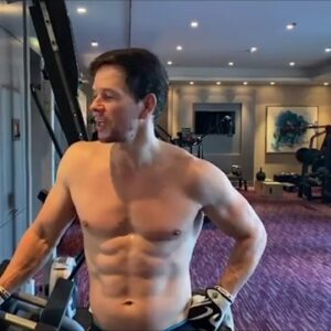 Mark Wahlberg -  in great shape, training as usual