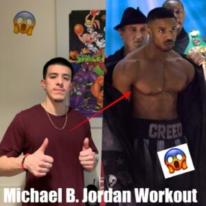 MICHAEL B  JORDAN WORKOUT
