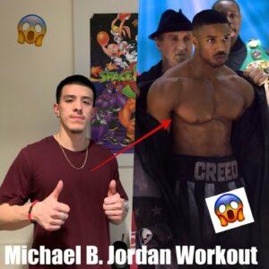 MICHAEL B  JORDAN WORKOUT