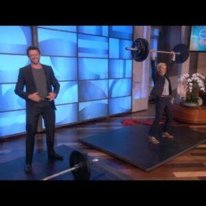 Who Can Lift More? Ellen or Hugh Jackman?